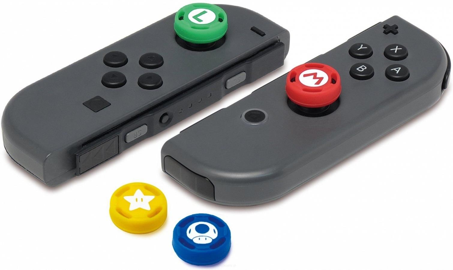 Насадки на стики Hori Analog Caps Super Mario (4шт) 0
