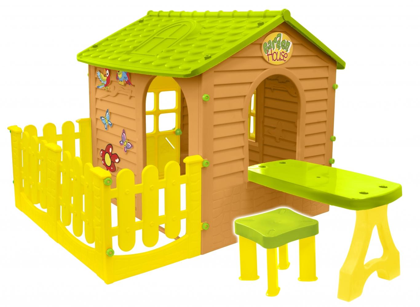 Детский игровой домик Mochtoys Garden Нouse с террасой и столиком 0