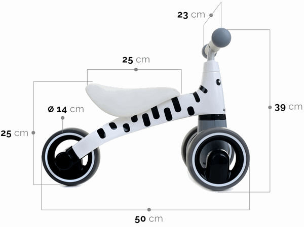 Беговел Junioria Mini Bike Zebra White 0