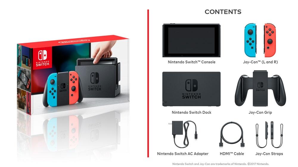Портативная игровая приставка Nintendo Switch Neon Red-Blue  0