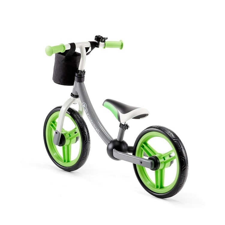 Беговел KinderKraft 2 Way Next Серо-зеленый c аксессуарами 0