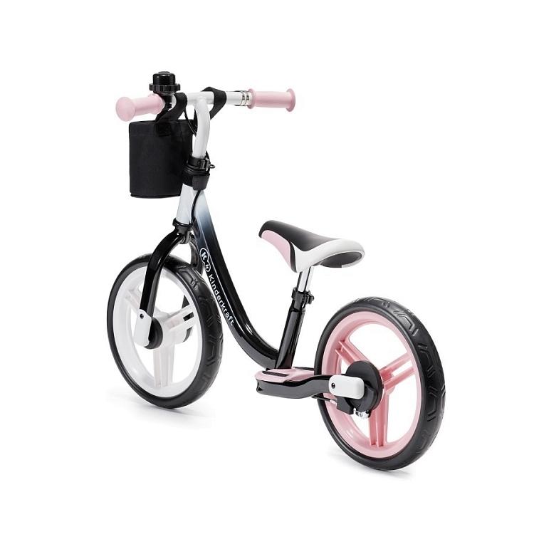 Беговел KinderKraft Space Pink с ручным тормозом 0