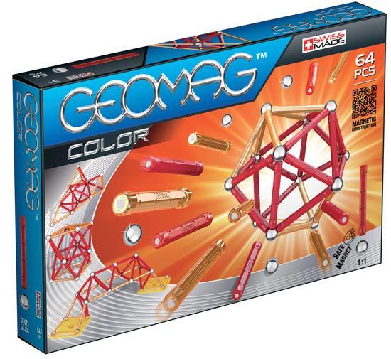 Магнитный конструктор Geomag Color 64 детали